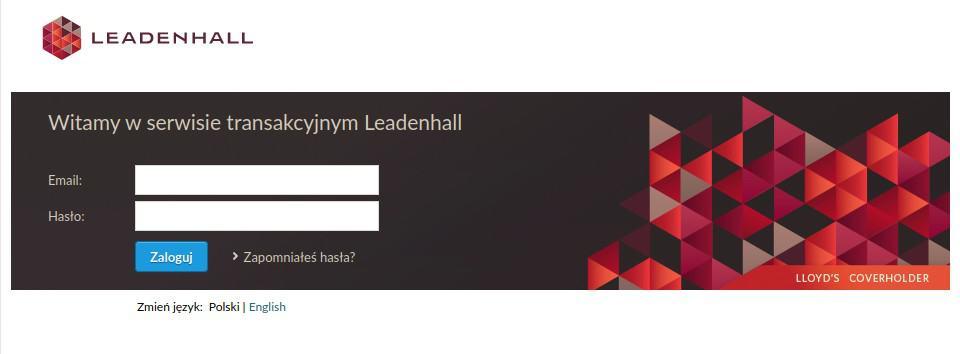 ekran leadenhall logowanie